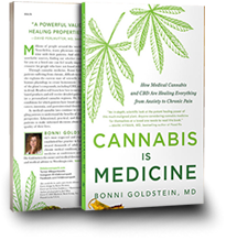 Photo of a book entitled, Cannabis Is Medicine
