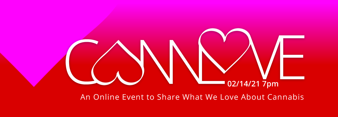CannLove 2021 logo in pink, red and white.