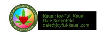 JoyFul Kauai logo and contact information