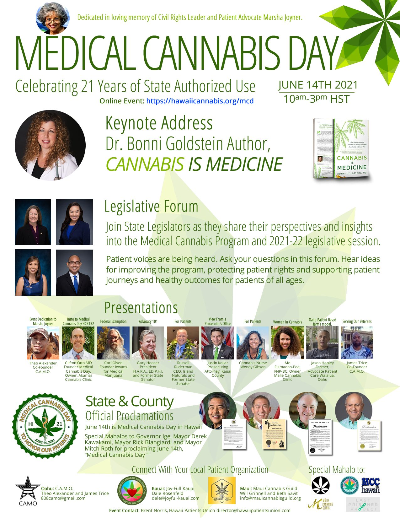 Medical Cannabis Day Event Flyer in .jpg format for sharing.