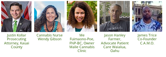 Photos, portraits of Medical Cannabis Day Presenters and Topics